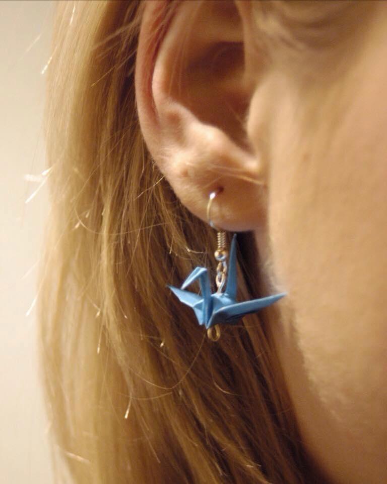 Ohrringe - Origami Kranich
