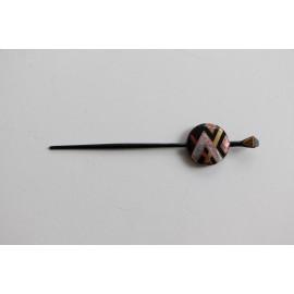 Haarnadel aus Holz mit Urushi-Lack